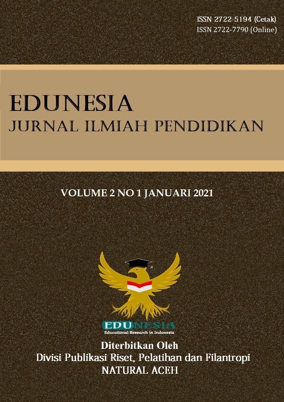 View Vol. 2 No. 1 (2021): Edunesia : Jurnal Ilmiah Pendidikan